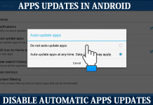 how to Disable Automatic Apps update in Android Device
