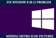 How to Fix Window 8 (8.1) Missing Metro Icon Pictures